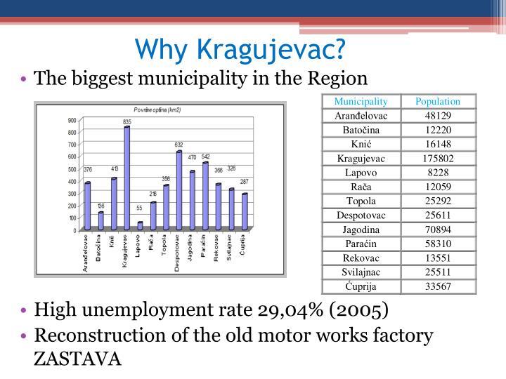Why Kragujevac?