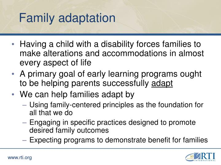 Family adaptation