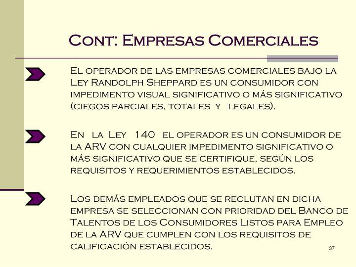 Cont: Empresas Comerciales