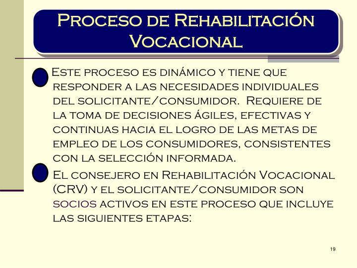 Proceso de Rehabilitación Vocacional