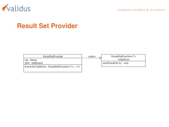 Result Set Provider
