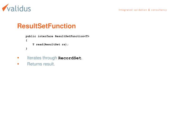 ResultSetFunction
