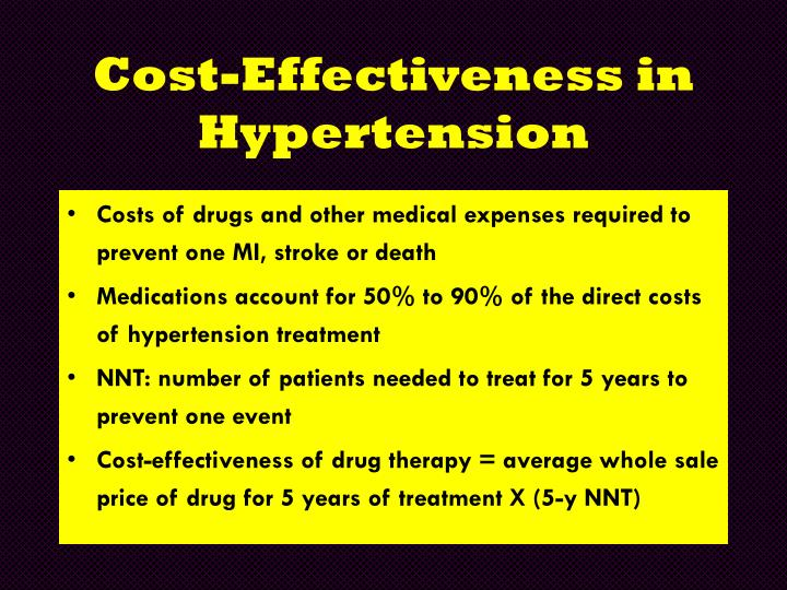 Cost-Effectiveness in Hypertension