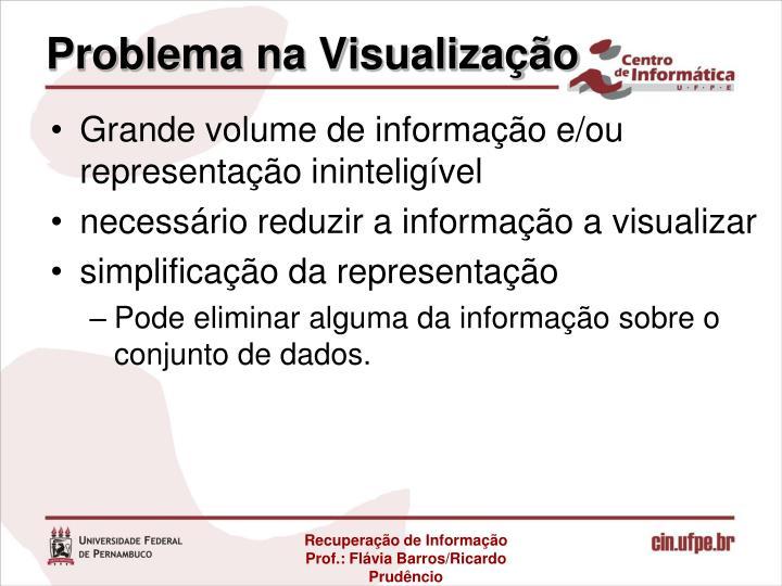 Problema na Visualização