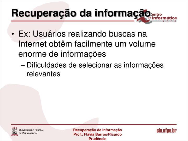 Recuperação da informação
