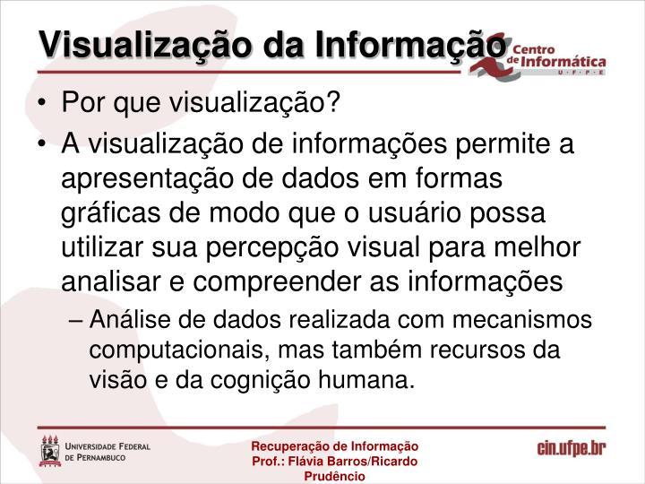 Visualização da Informação