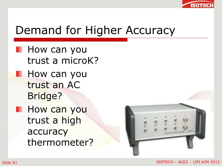 Demand for Higher Accuracy