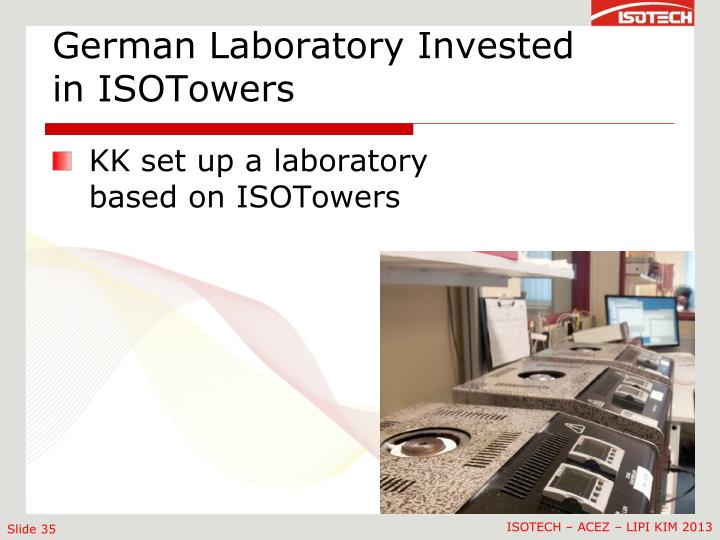 German Laboratory Invested in ISOTowers