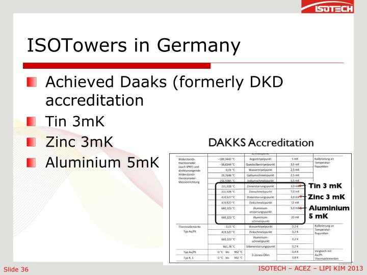 ISOTowers in Germany