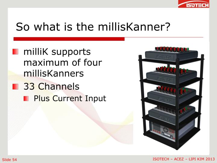 So what is the millisKanner?