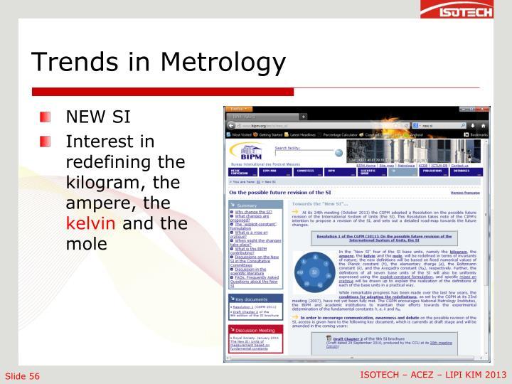 Trends in Metrology
