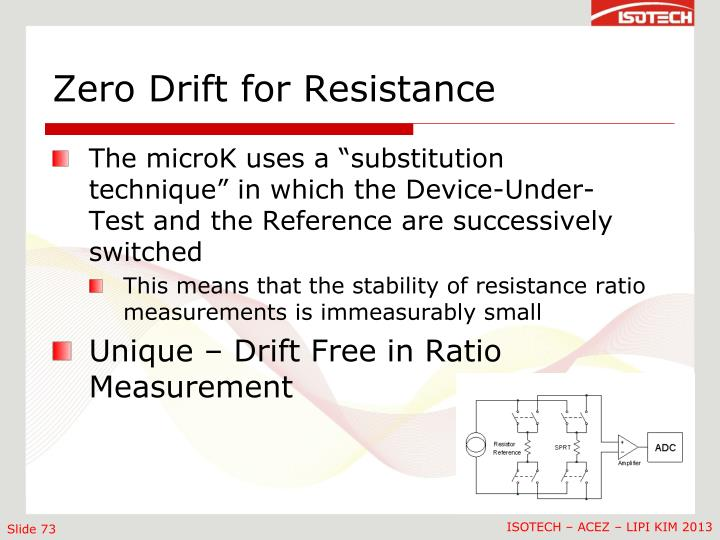 Zero Drift for Resistance