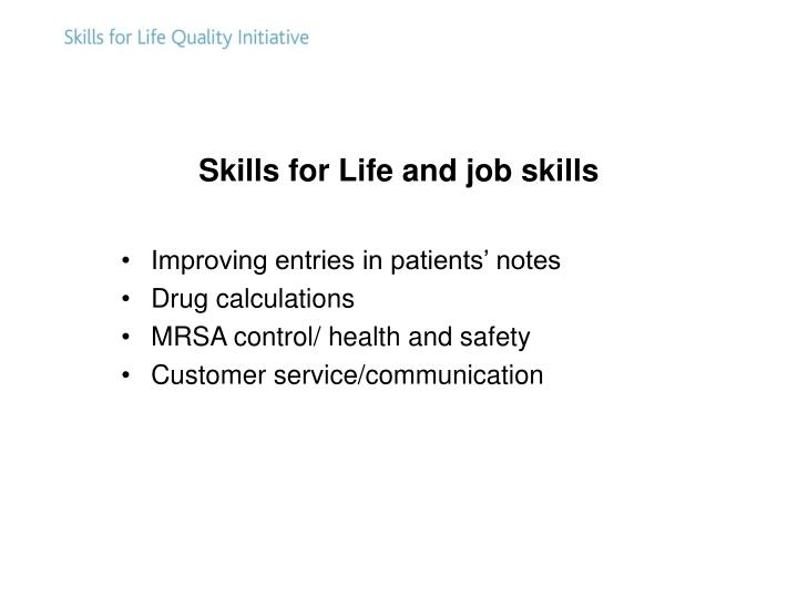 Skills for Life and job skills