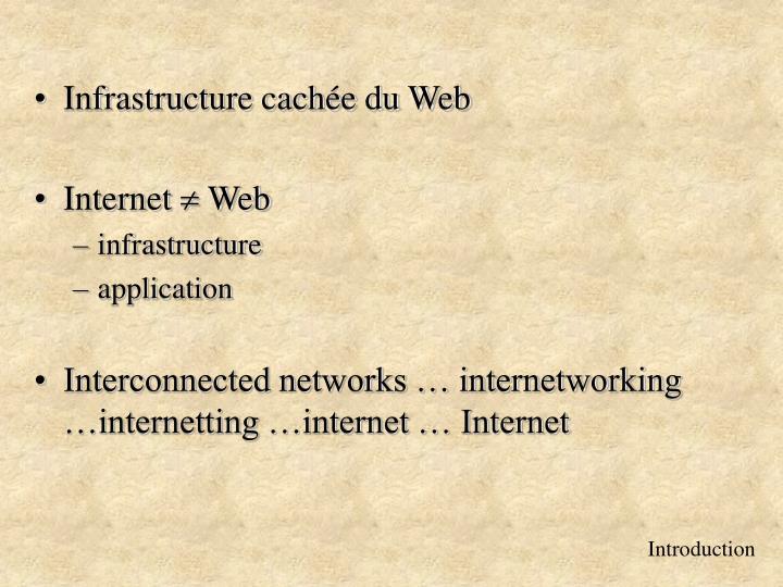 Infrastructure cachée du Web