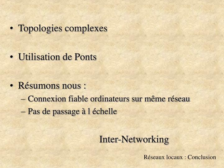Topologies complexes