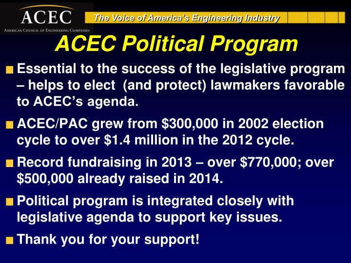 ACEC Political Program
