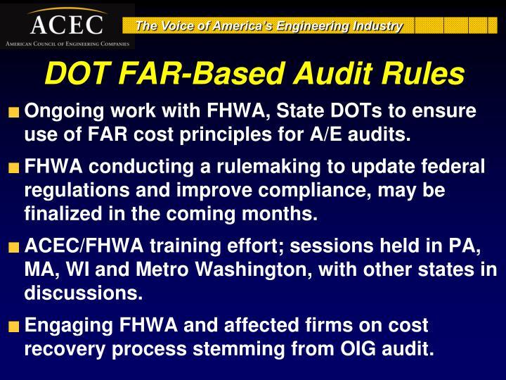DOT FAR-Based Audit Rules