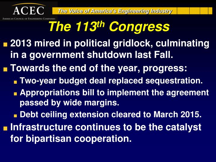 The 113 th congress