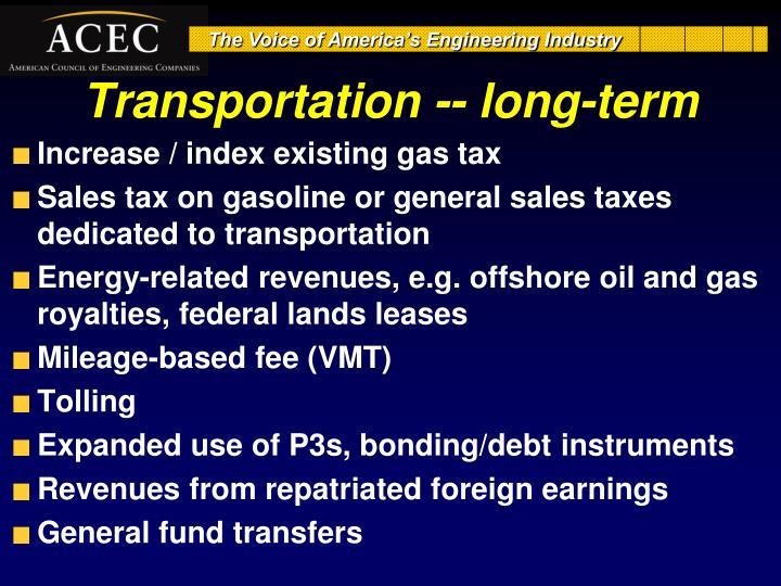 Transportation --