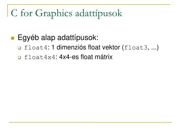 C for Graphics adattípusok
