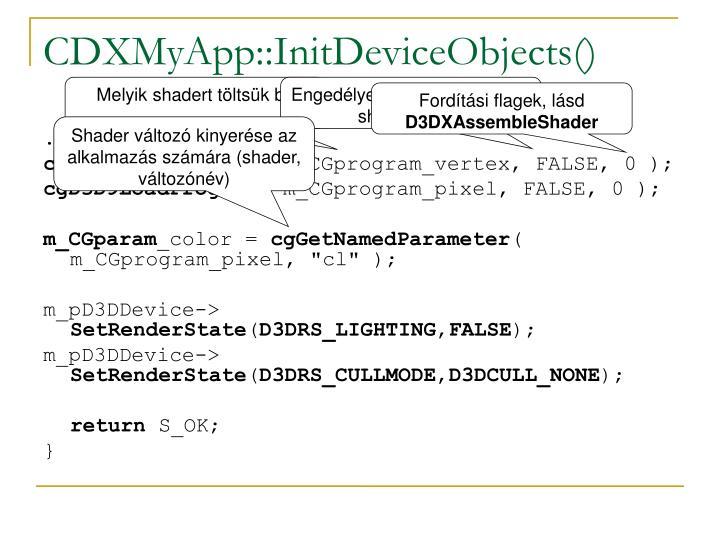 CDXMyApp::InitDeviceObjects()