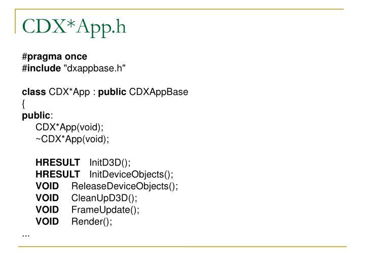 CDX*App.h