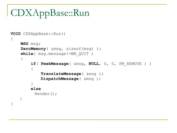 CDXAppBase::Run