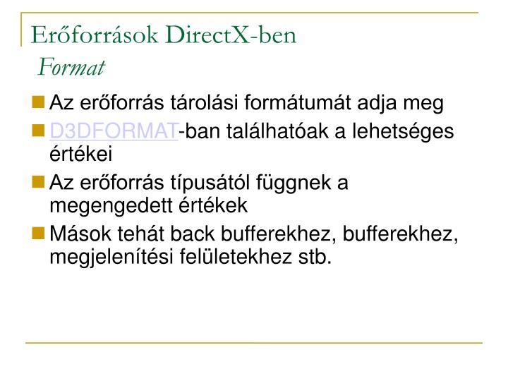 Erőforrások DirectX-ben