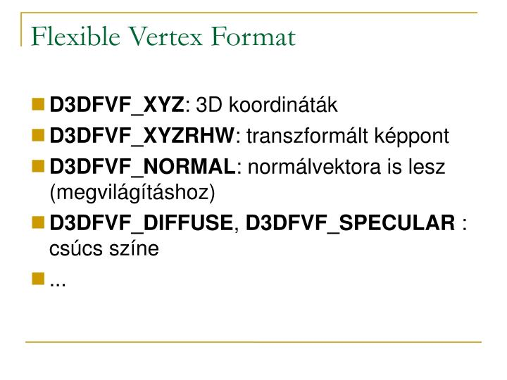 Flexible Vertex Format