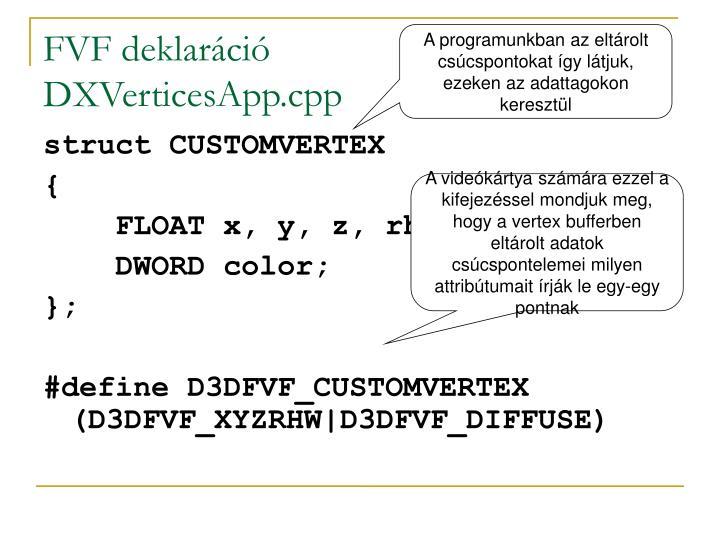 FVF deklaráció