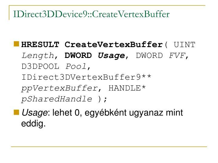 IDirect3DDevice9::CreateVertexBuffer