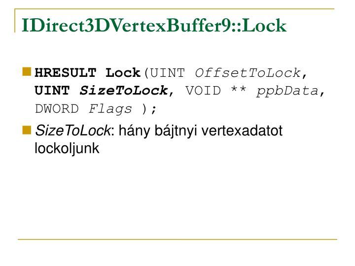 IDirect3DVertexBuffer9::Lock