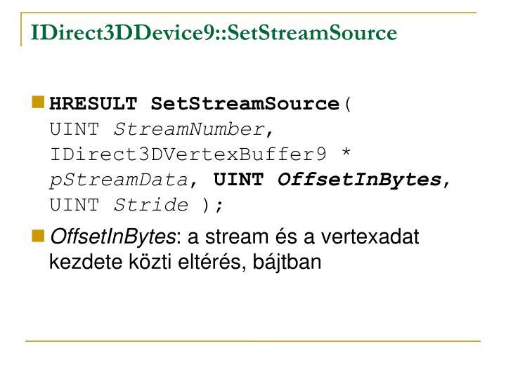 IDirect3DDevice9::SetStreamSource