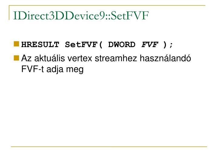 IDirect3DDevice9::SetFVF