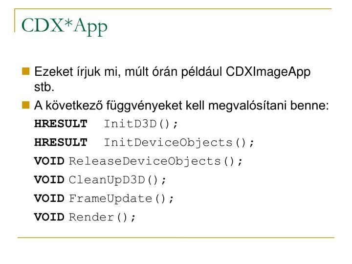 CDX*App