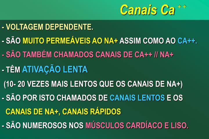 Canais Ca