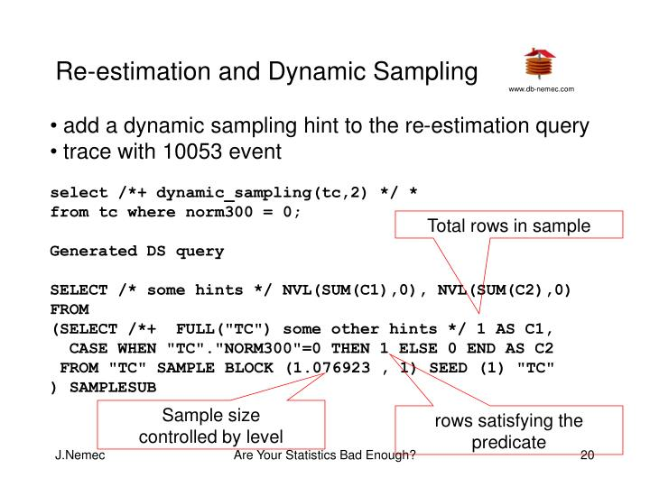 Re-estimation and Dynamic Sampling