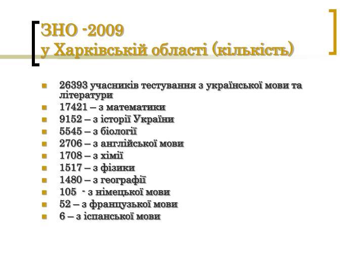 ЗНО -2009