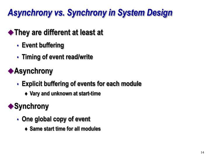 Asynchrony vs. Synchrony in System Design