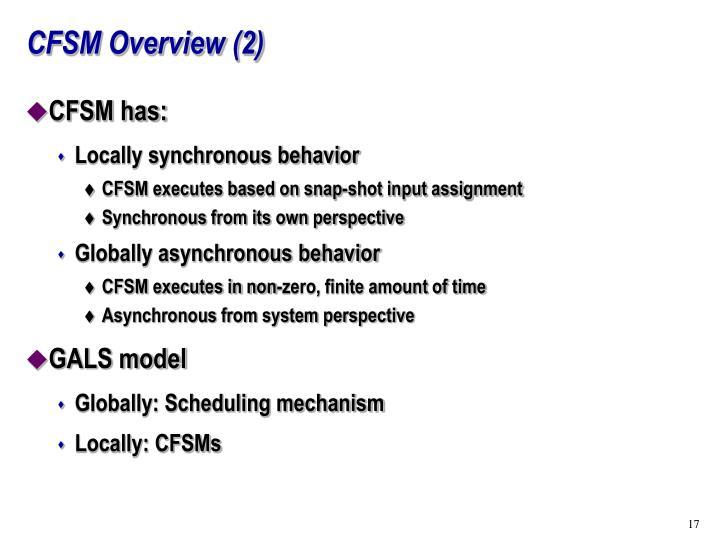 CFSM Overview (2)
