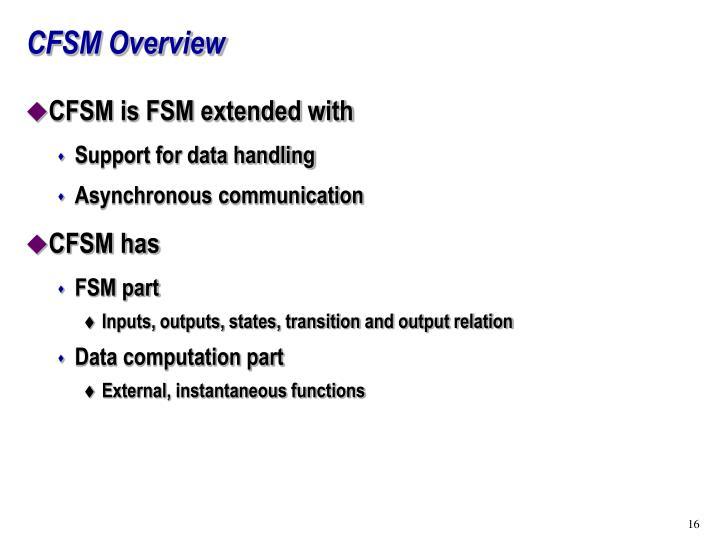 CFSM Overview