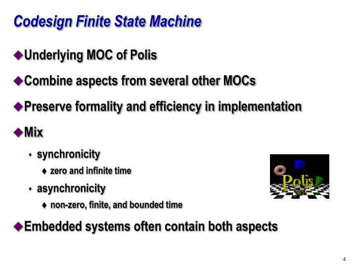 Codesign Finite State Machine