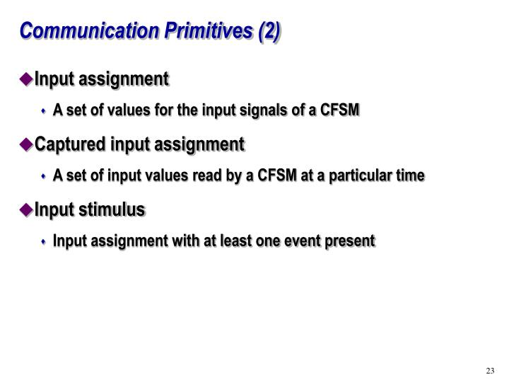 Communication Primitives (2)