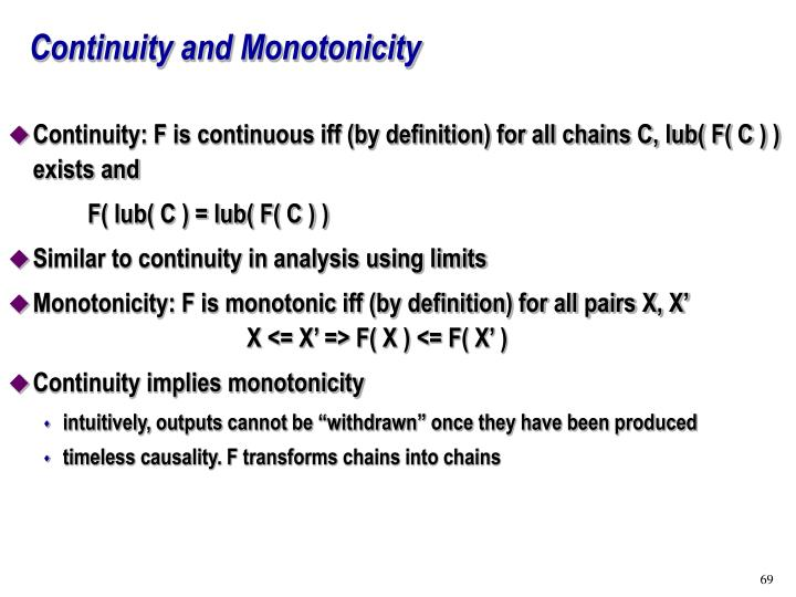 Continuity and Monotonicity