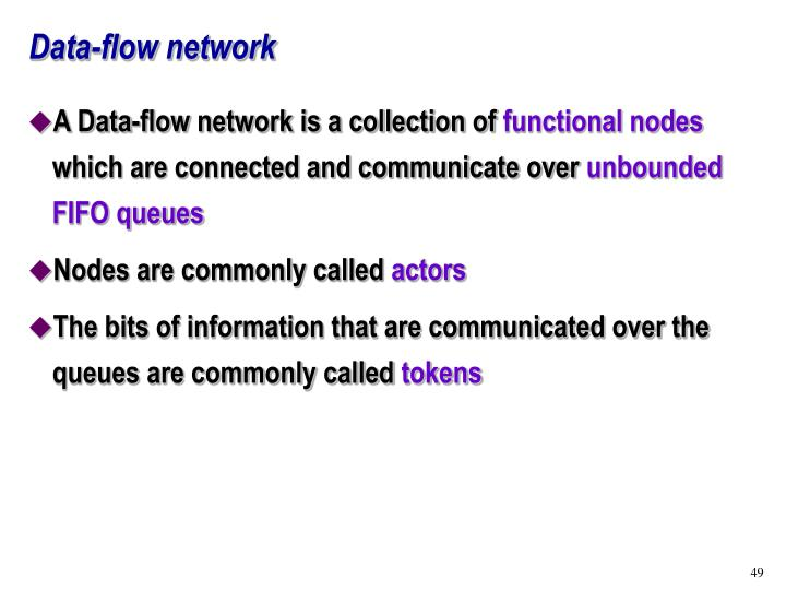 Data-flow network