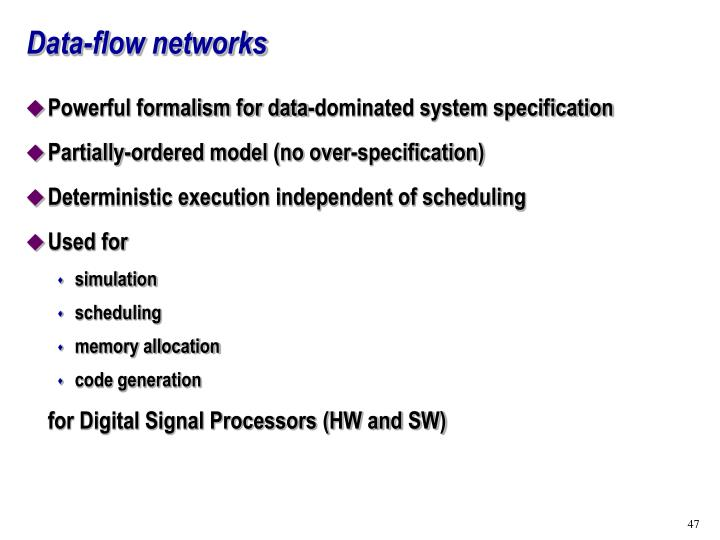 Data-flow networks