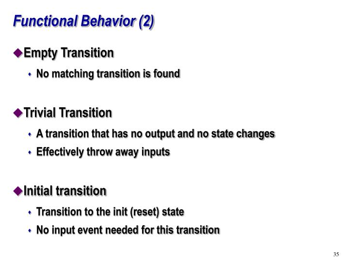 Functional Behavior (2)
