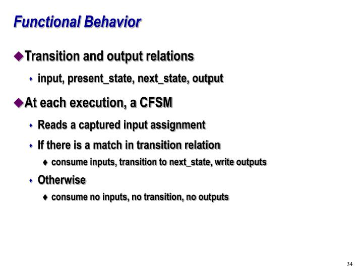 Functional Behavior