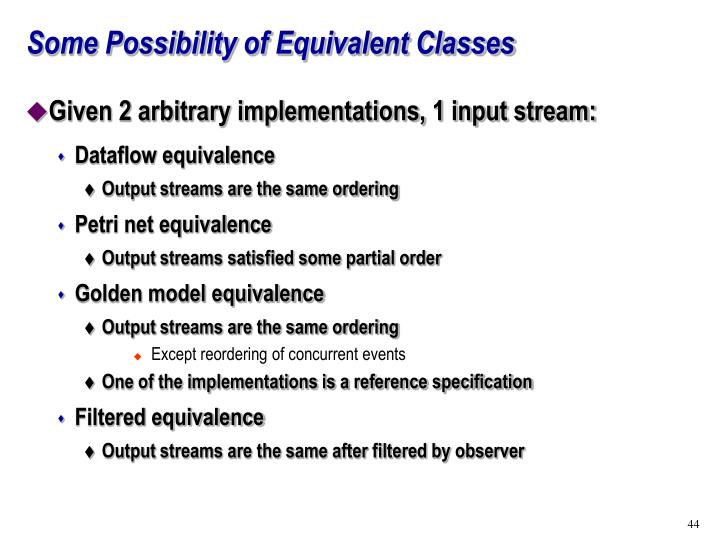 Some Possibility of Equivalent Classes