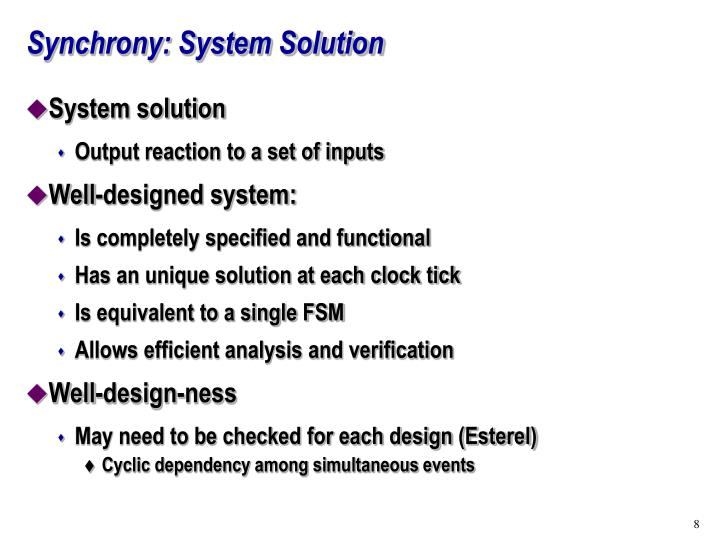 Synchrony: System Solution